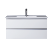 Wall Hung 900mm 2 Drawer White