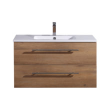 WALL HUNG 2 DRAWER VANITY 900MM SNAFELL